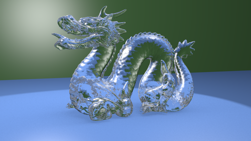 Dragon raytraced